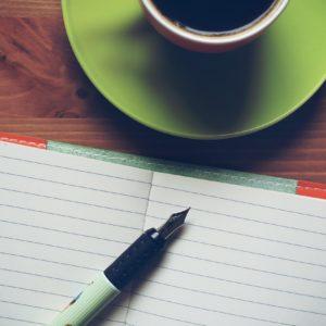 papier stylo café